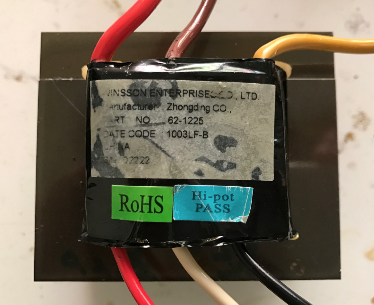Opening A Winsson 621225 Power Transformer R X Seger Medium China Electric Wire Electrical Copper Wires The Label Reads Enterprises Co Ltd Manufacturer Zhongding Part No Date Code 1003lf B S N 02222