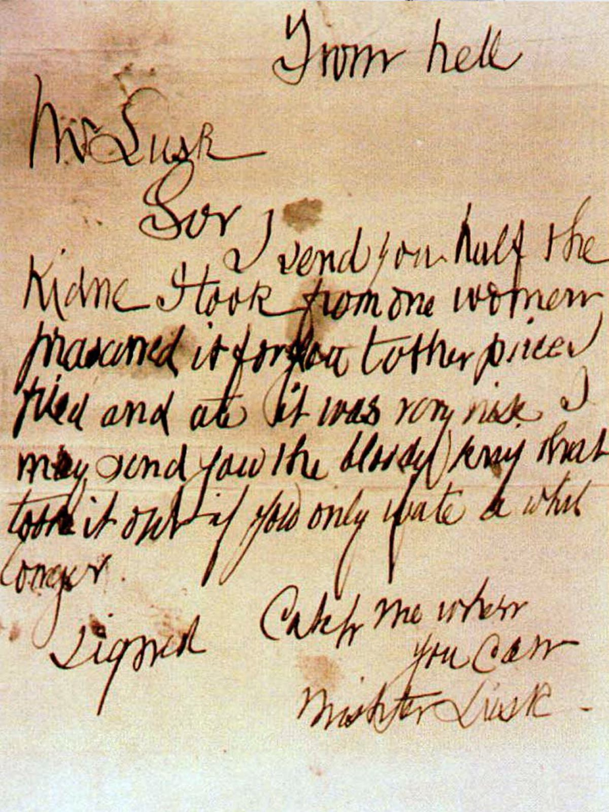 All of the letter's attributed to Jack the Ripper are thought to be hoaxes