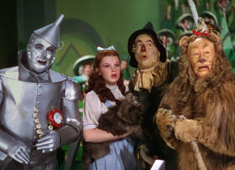 Dorothy and tin man scarecrow lion not understand