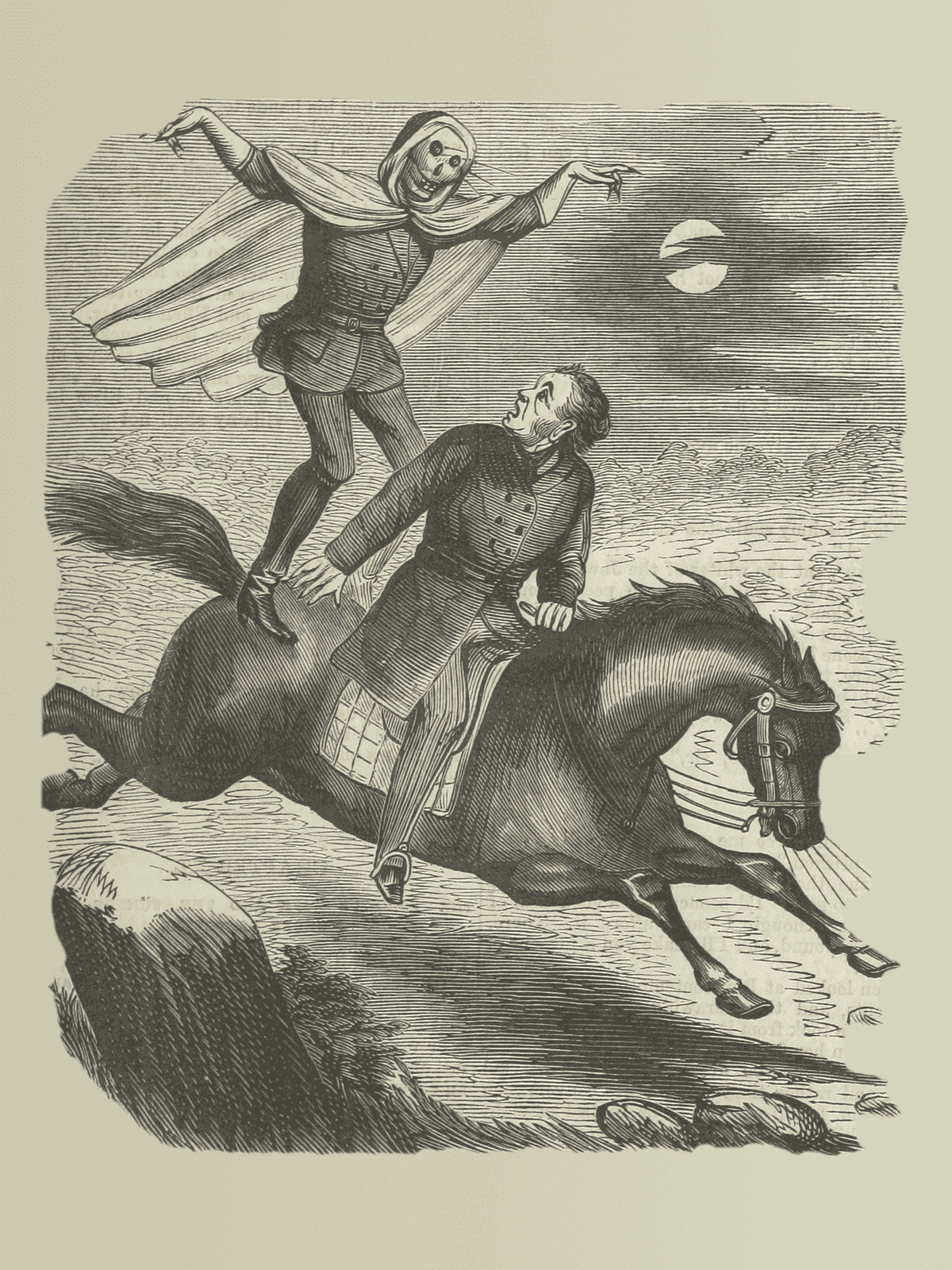 A typical Spring Heeled Jack attack as depicted in the penny dreadfuls