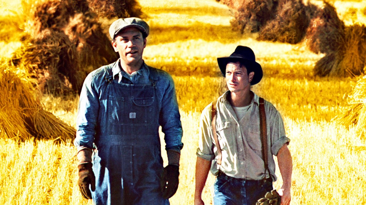 a comparison of the novel and film version of of mice and men by john steinbeck The classic novel, of mice and men, written by john steinbeck was made into a   there are many similarities and differences in the book and movie versions of.