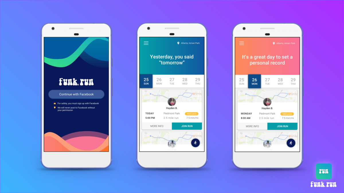 Helping you find nearby people to run with