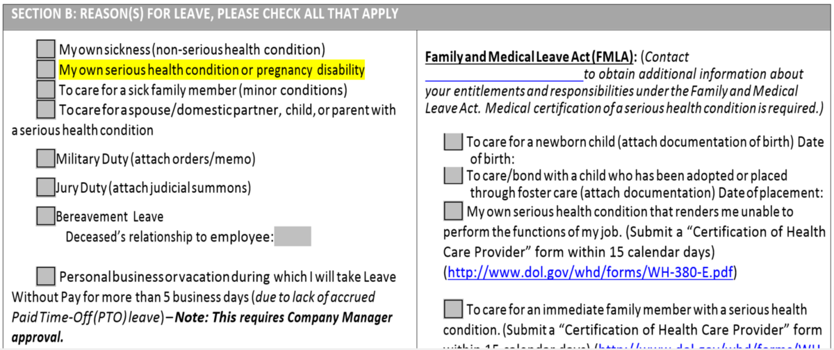 No fmla leave without pay tyjen conley medium xflitez Image collections