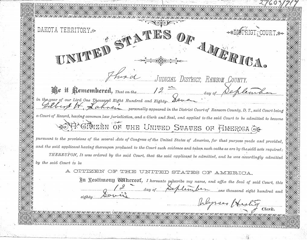 The Revolving Door Citizenship Of Tomi Lahrens Great Great Grandfather