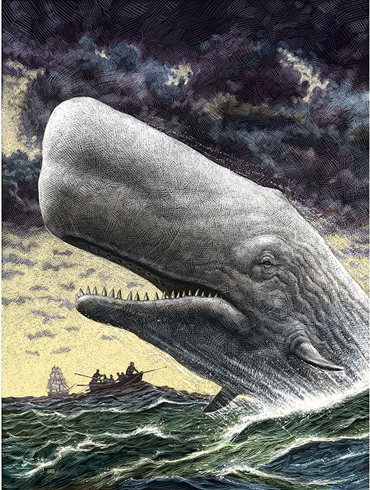 How big was moby dick