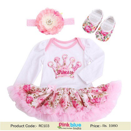 bbe6a29d16c1 Unique 3 Pieces Baby Girl Rompers Outfits for 1st Birthday Party
