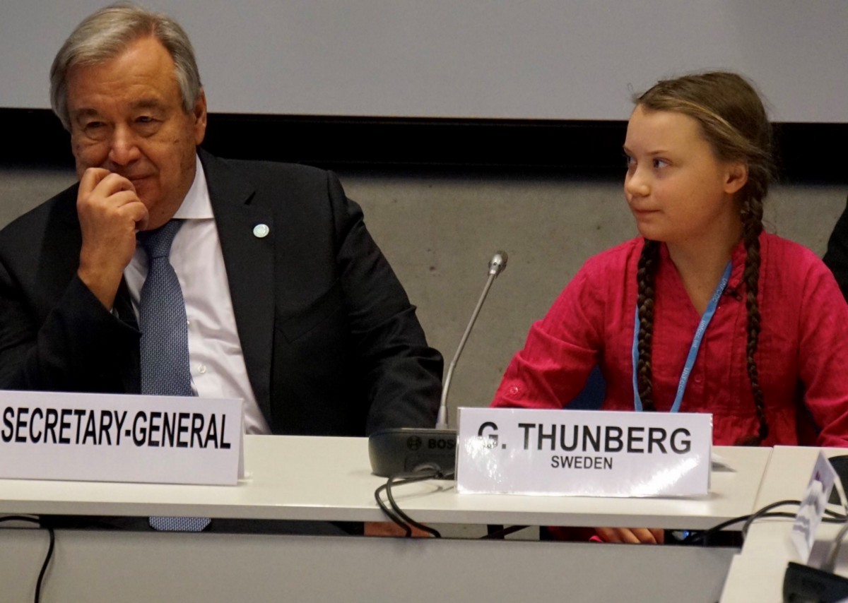 Greta Thunberg speech to UN secretary general António Guterres