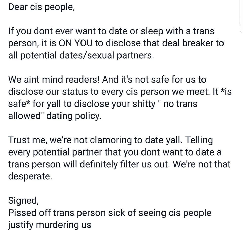 2b6a09eb8969 About your shitty no-trans dating policy… – Allison Washington – Medium