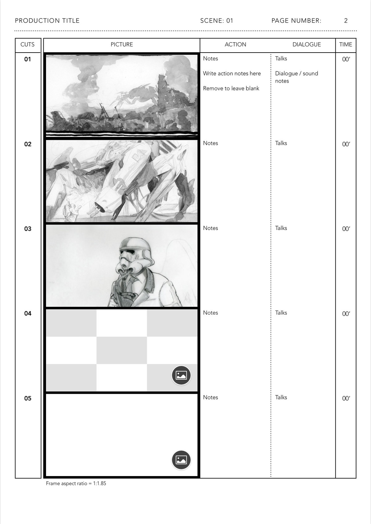Storyboard Template | Japanese Anime Storyboard Templates Film Storyboards Medium
