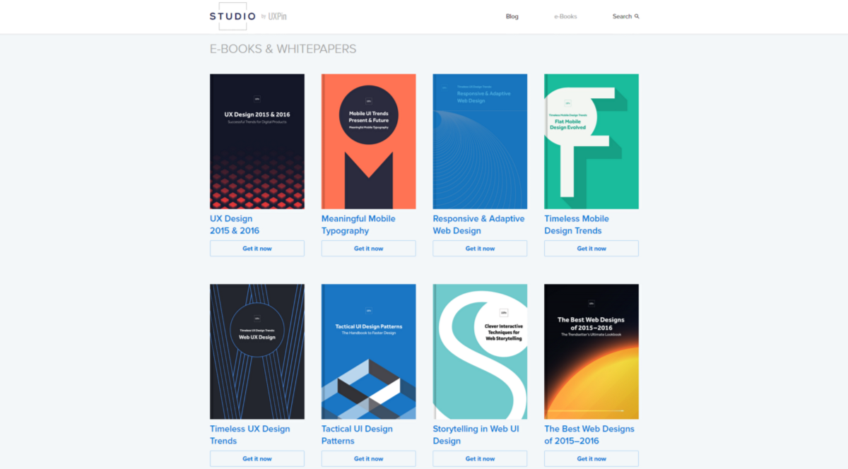 UXPin ebooks Screenshot