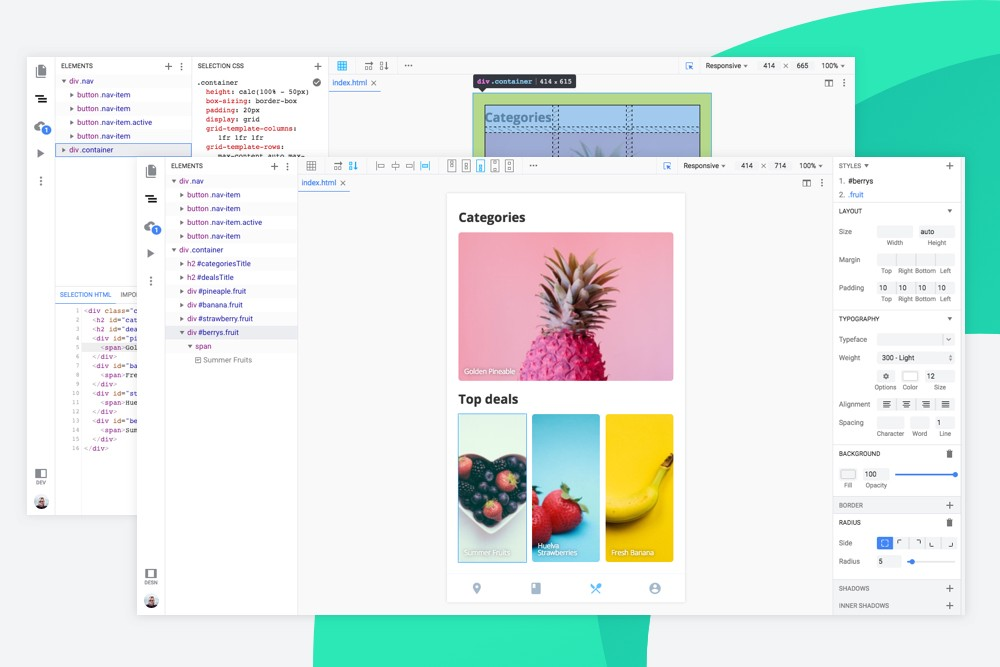 A design tool that is also a developer tool. Introducing profiles in Hadron.