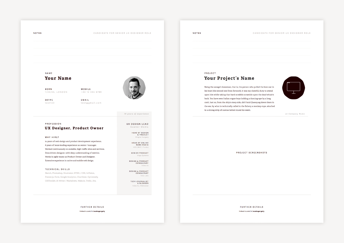 Creating Resume In Sketch U2013 Design + Sketch U2013 Medium  What Font For Resume