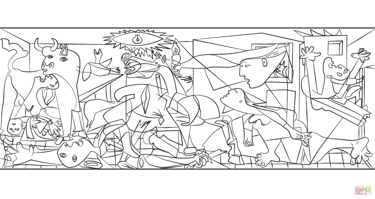 Switch the practice for sketching it s what picasso did - Coloriage picasso ...