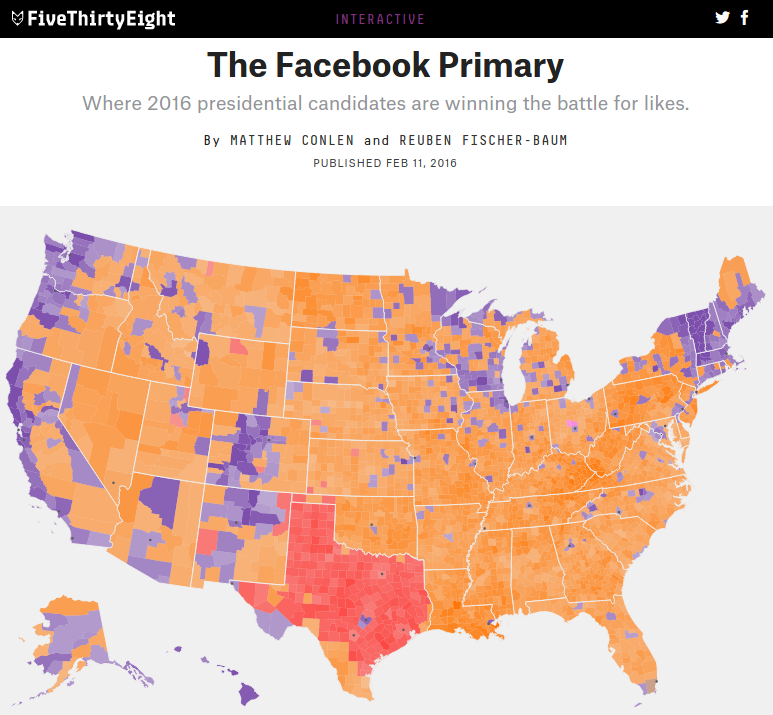 No One Actually Lives In Most Of The Places Demographic Maps Like These Portray Like This One From Fivethirtyeight At Left