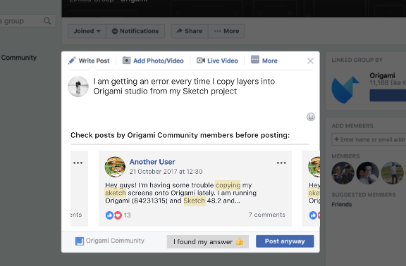 Decluttering Facebook groups: Suggested posts to answer frequent questions
