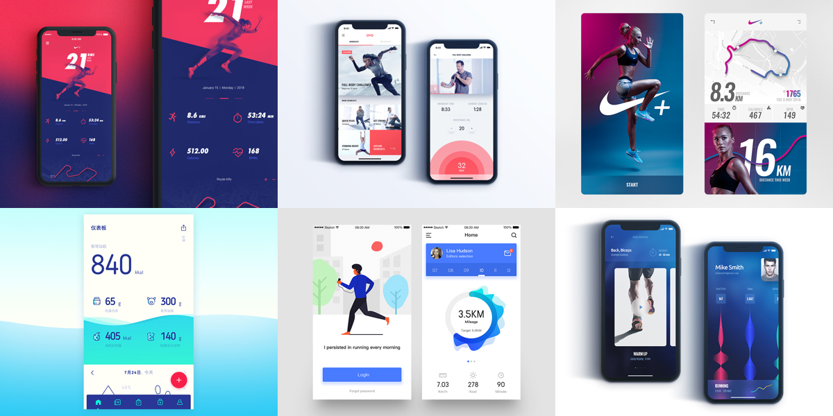 Friday Design Inspiration: 15 Inspiring Fitness App Designs