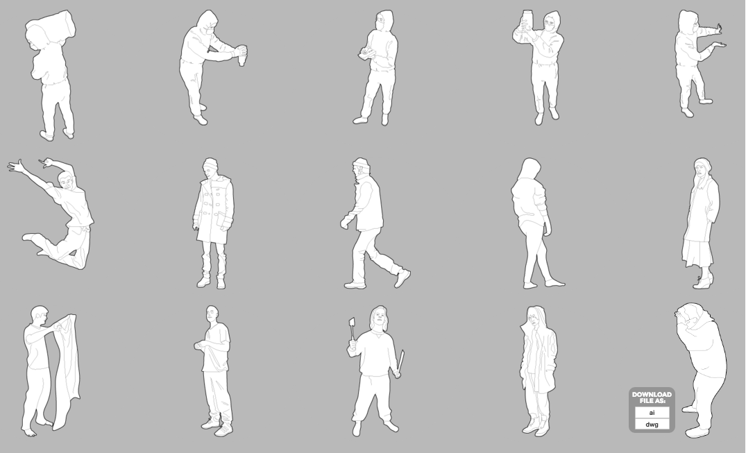 a list of awesome sites for free cutout people pit crit medium