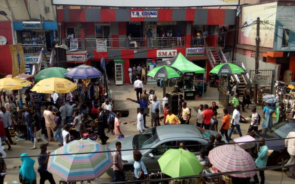 Image result for pictures of Alaba International Market, Lagos