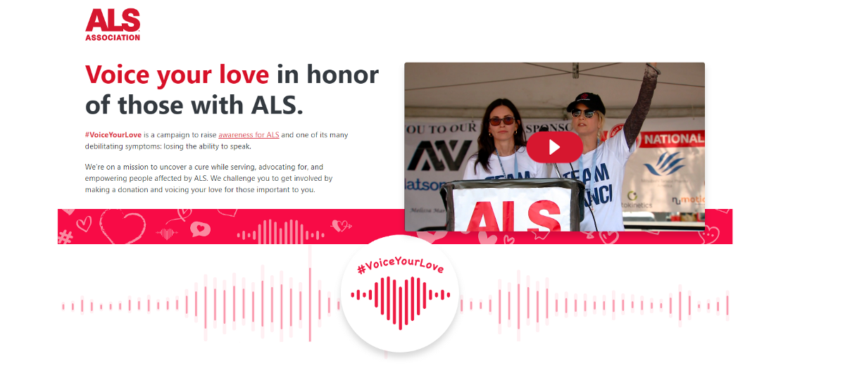 TRON & ALS Association Launch #VoiceYourLove to Raise Awareness of ALS