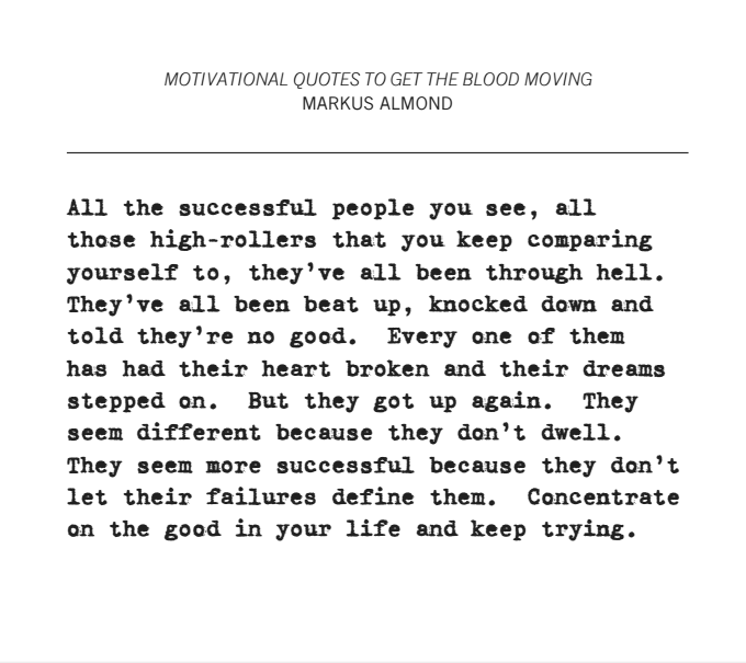 Motivational Quotes To Get The Blood Moving Markus Almond Medium