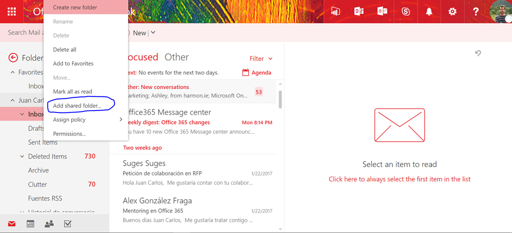 Office 365 How To Add A Shared Mailbox To Owa Regarding 365