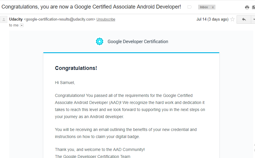 Lessons learned from passing the Associate Android Developer(AAD ...
