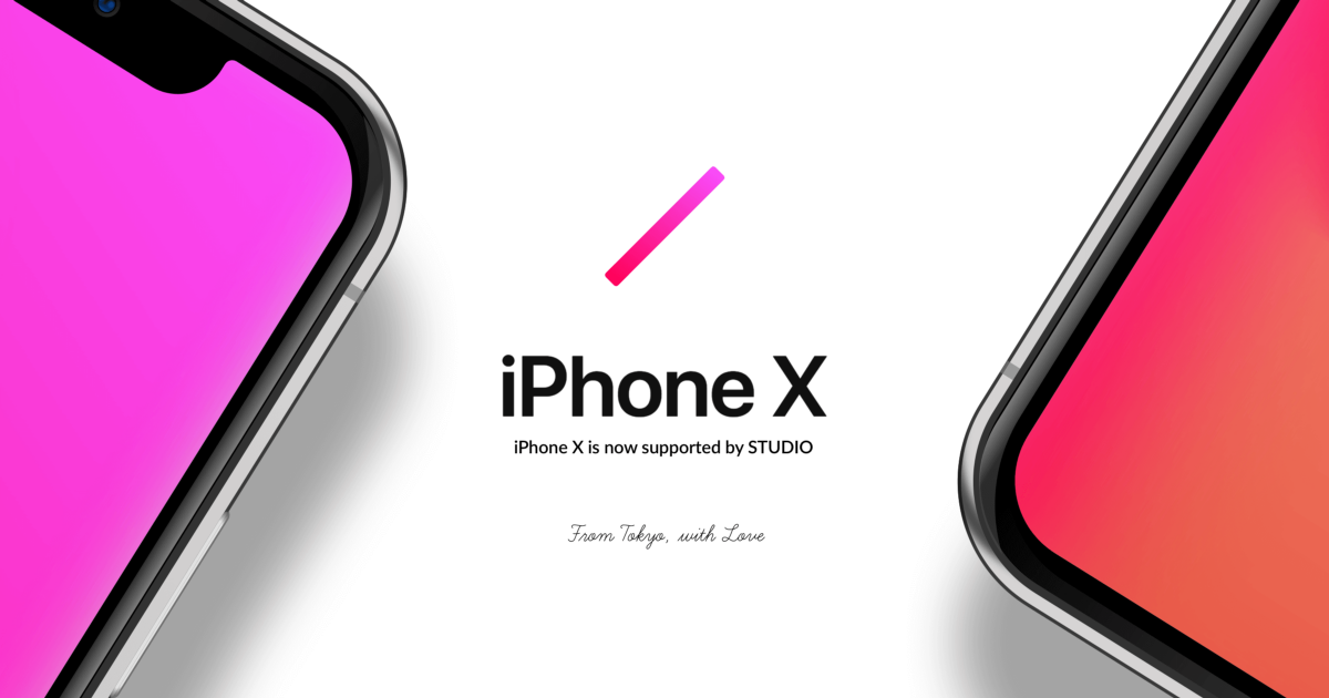 "Design for ""iPhone X"" with STUDIO"