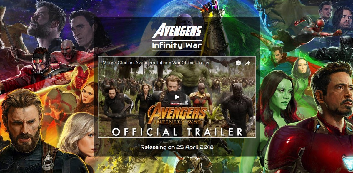How To Make A Poster For Avengers: Infinity War In HTML