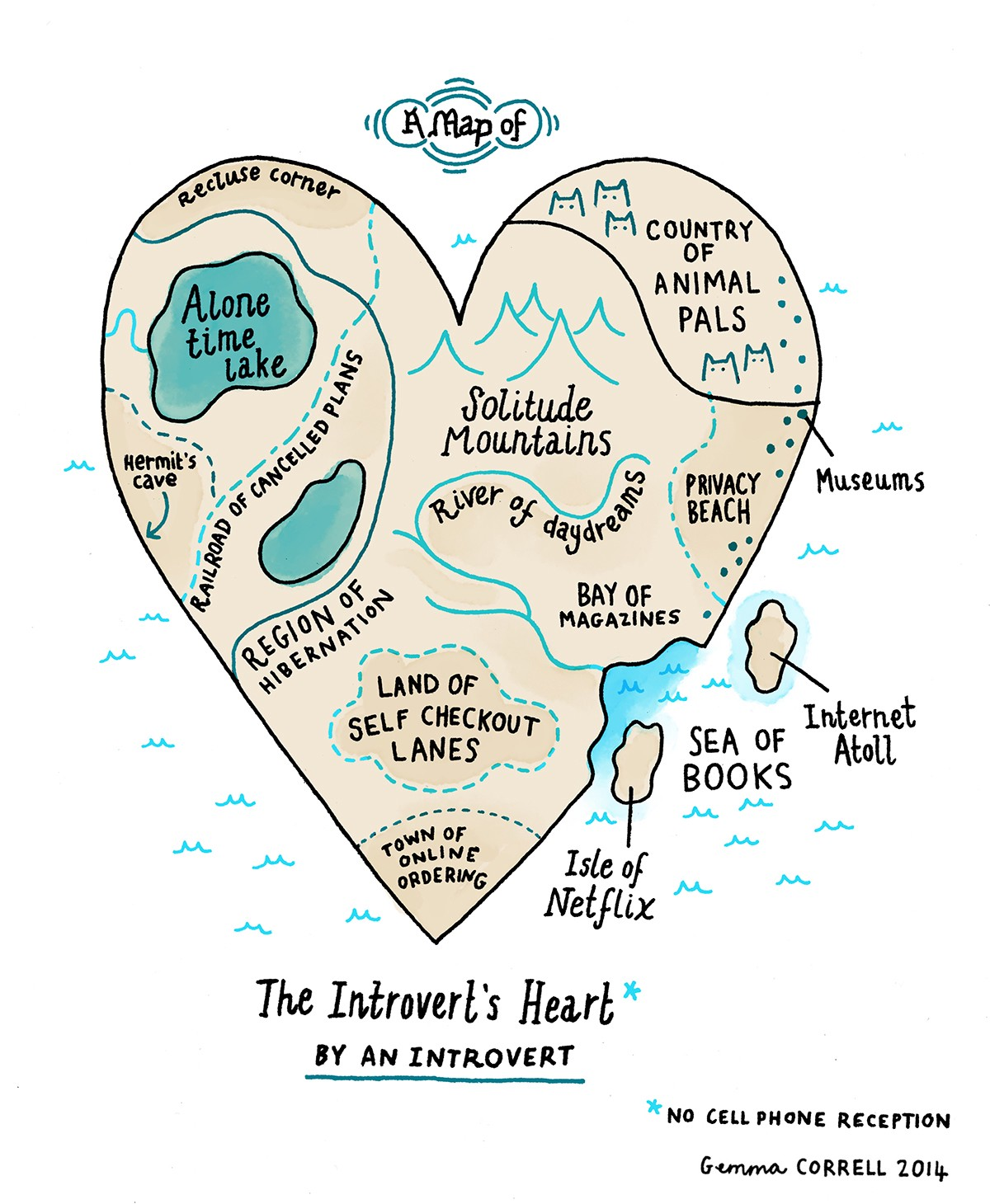 A Map of the Introverts Heart  I Love Charts  Medium