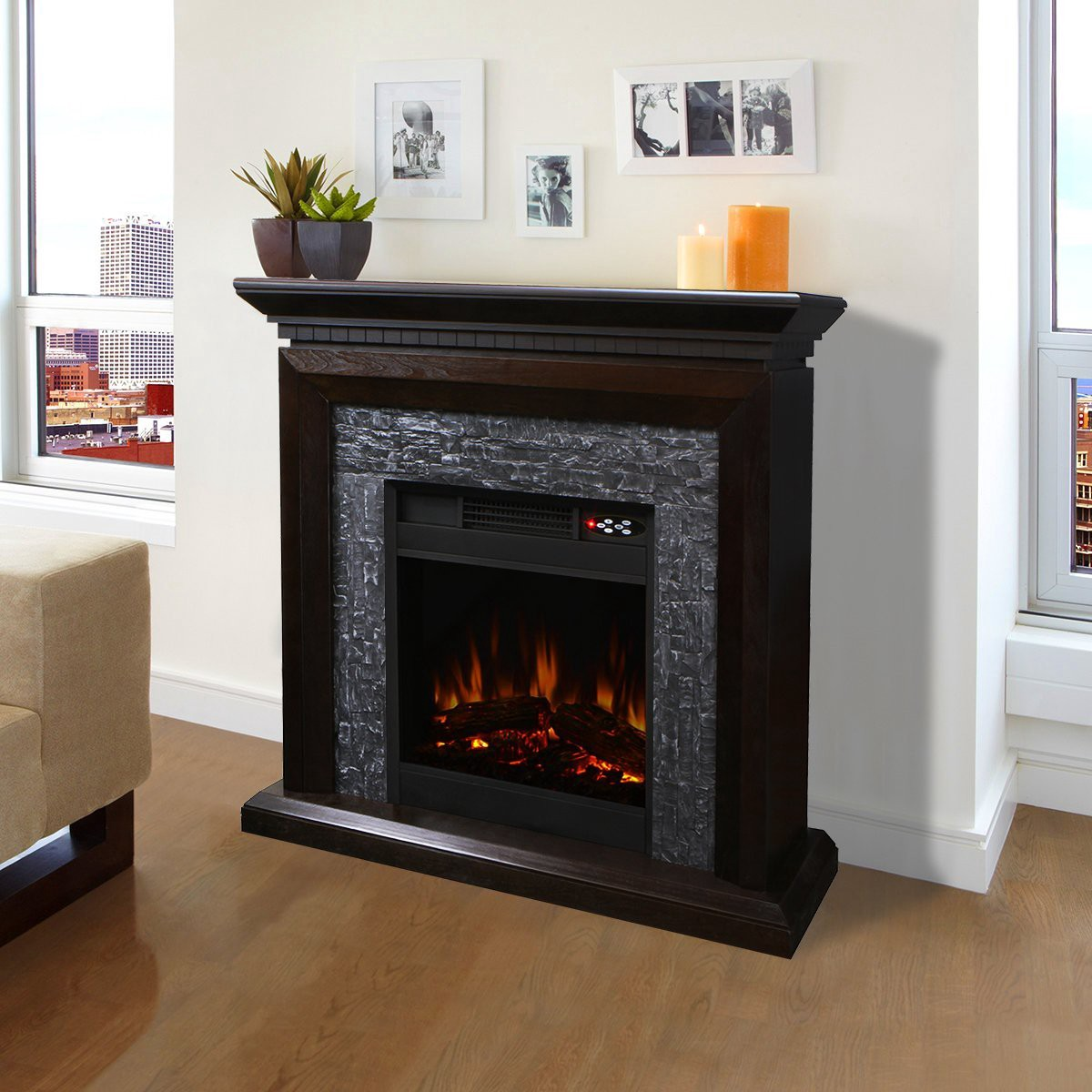 Eco friendly electric fireplace does it provide much heat for Eco friendly fireplace
