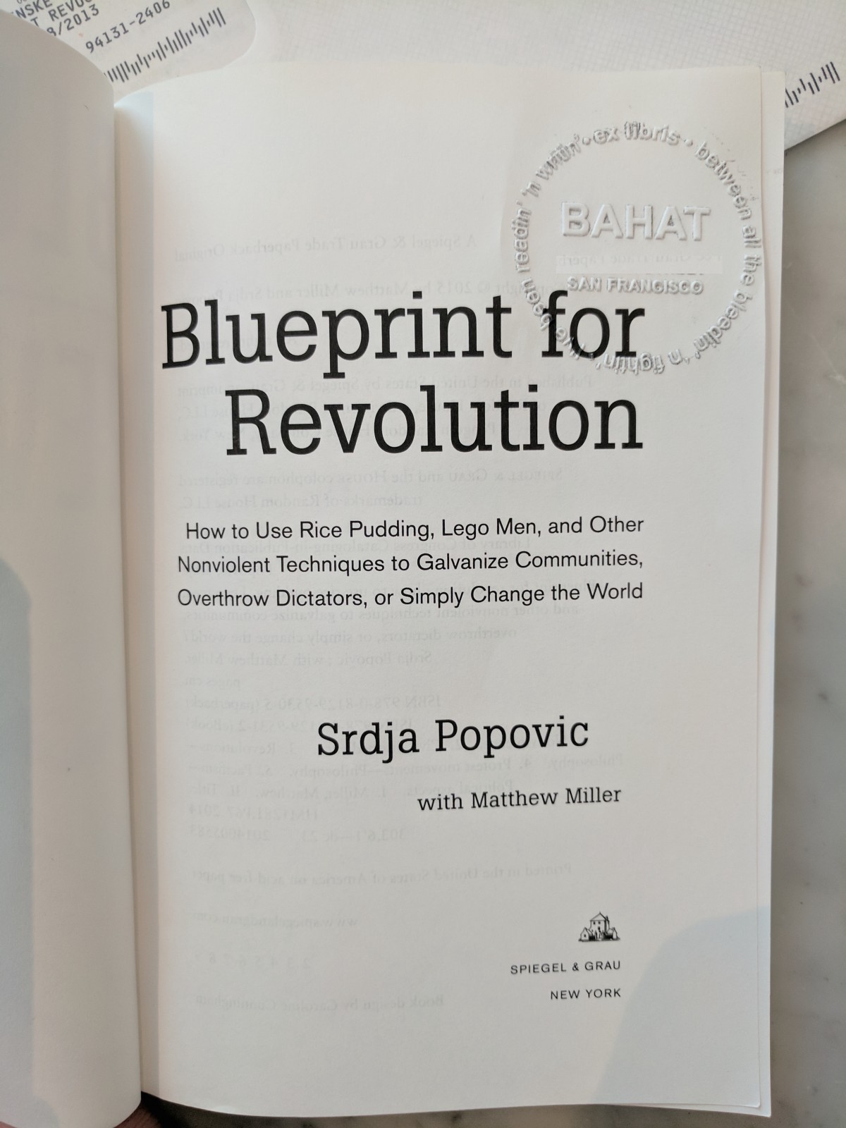 Blueprint for revolution bookstorm also by roy bahat blueprint for revolution bookstorm malvernweather Choice Image