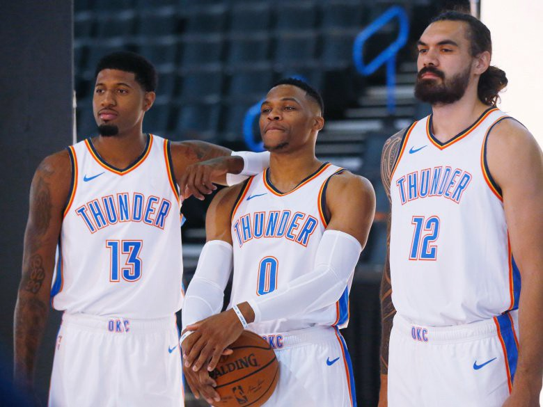 fc4c87d760e It seems like the Oklahoma City Thunder come under scrutiny every single  year. With world-class talent, Russell Westbrook, leading the show fans  expect a ...