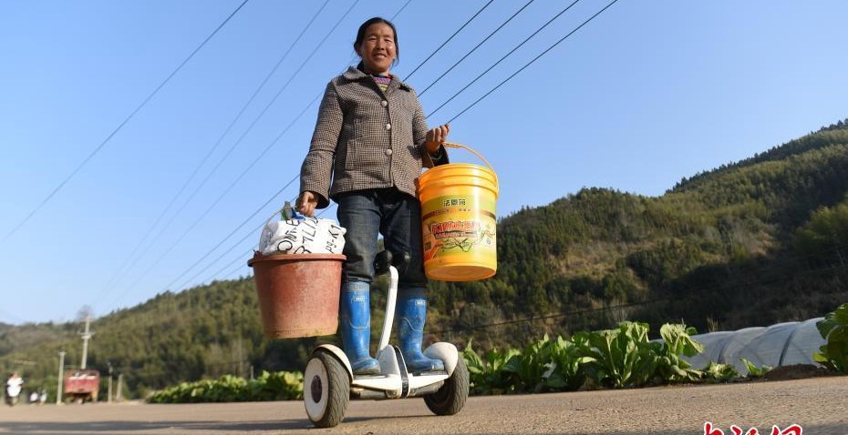 Fujian farmer says her life has become much easier ever since she bought a segway