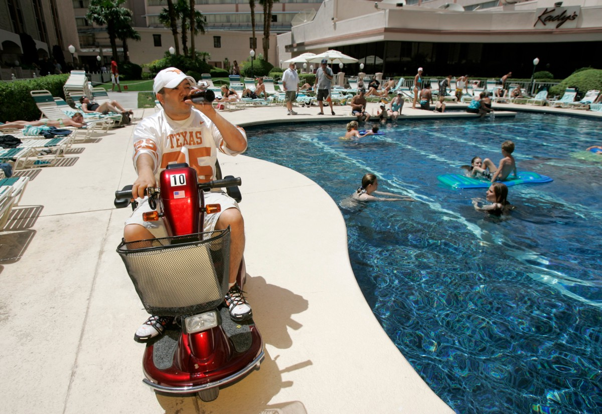 How mobility scooters went from garage project to for Motorized scooter rental las vegas