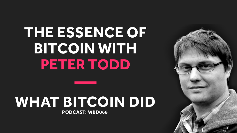QnA VBage Peter Todd on the Essence of Bitcoin
