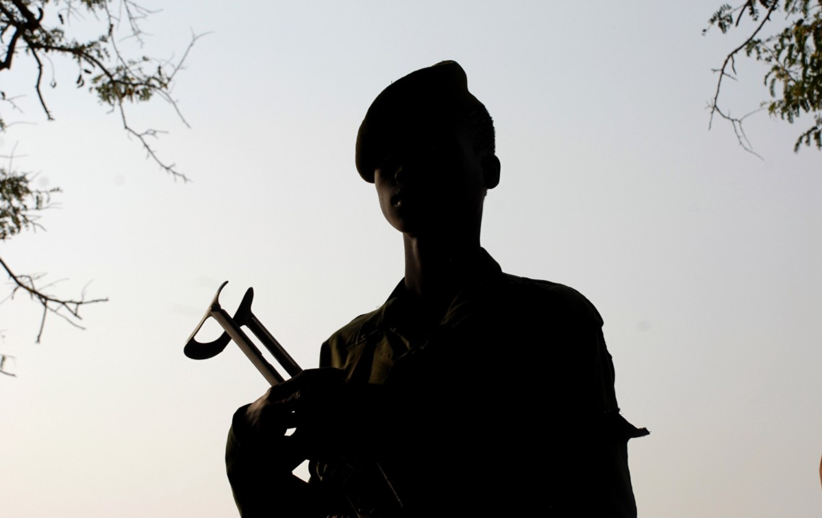 discussion of former child soldiers with