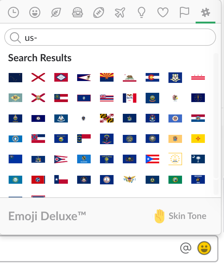 using state flags as slack emoji open states