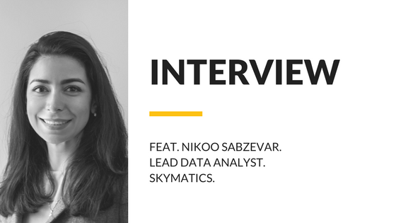 Headshot of Skymatics Lead Data Analyst Dr. Nikoo Sabzevar