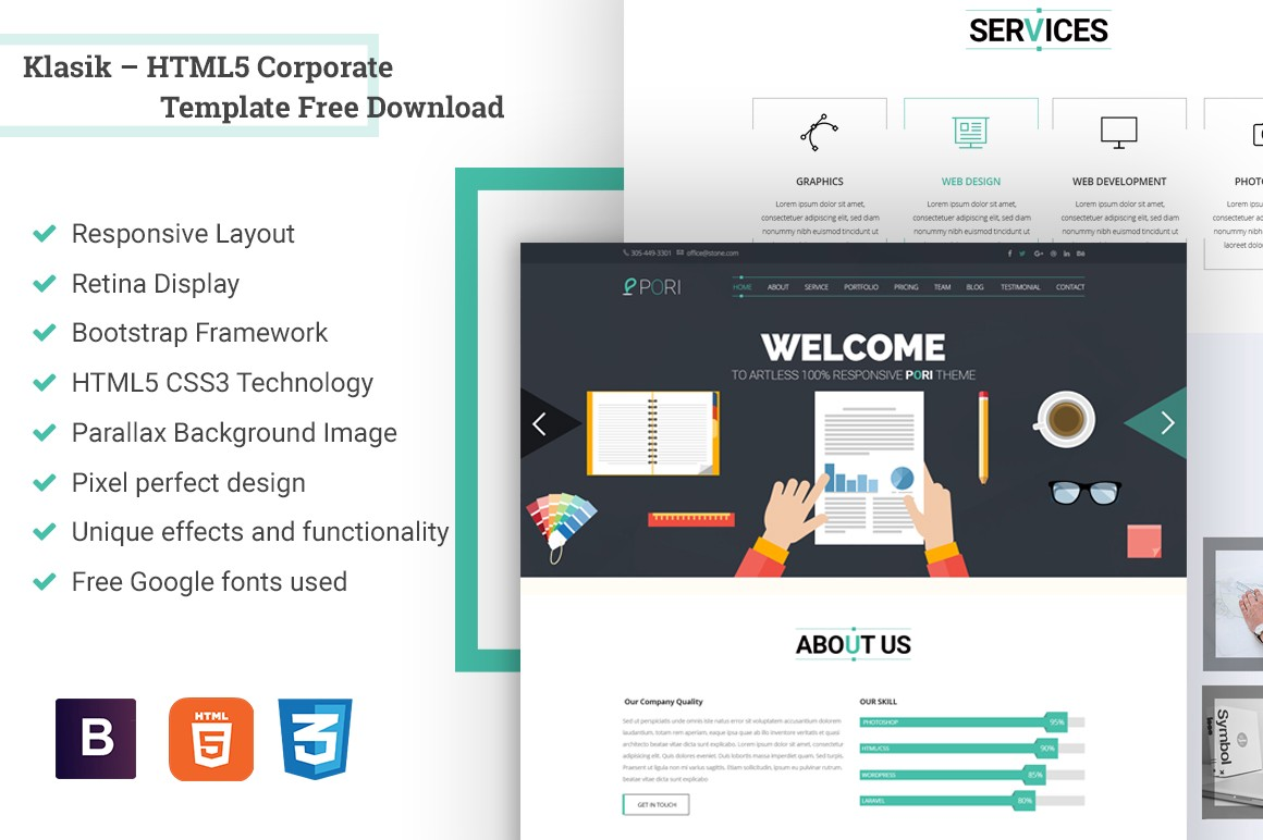 10 best free htmlcss web templates 2017 from revolthemes klasik html5 corporate template fbccfo Image collections