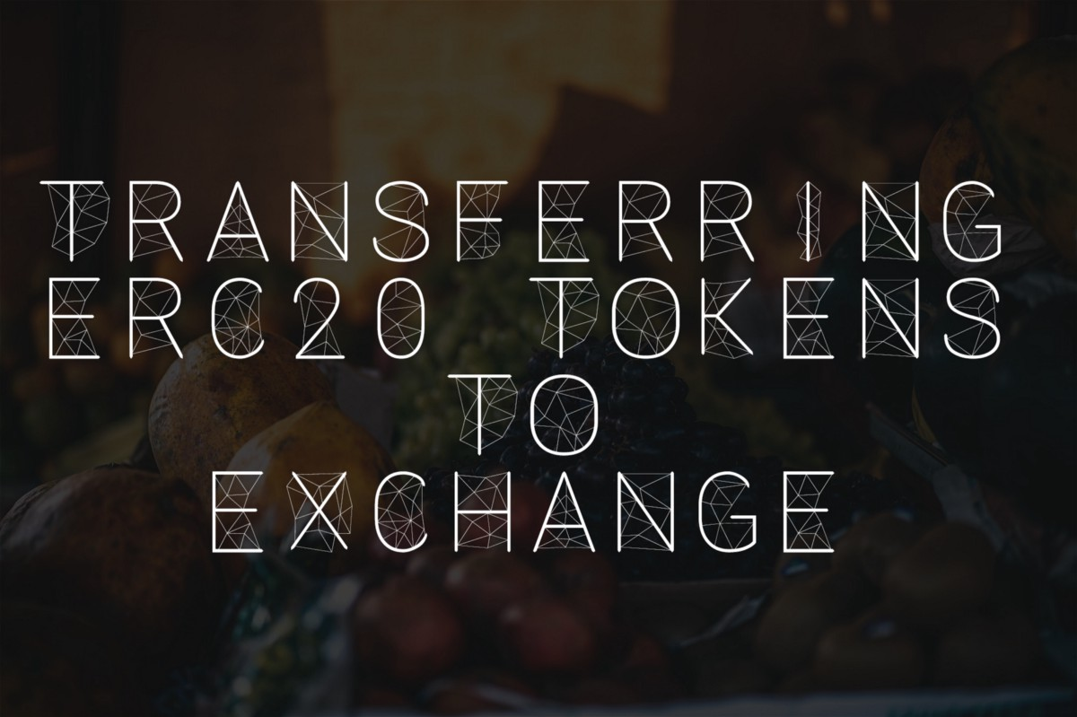 Transferring ERC20 Tokens To Cryptocurrency Exchange