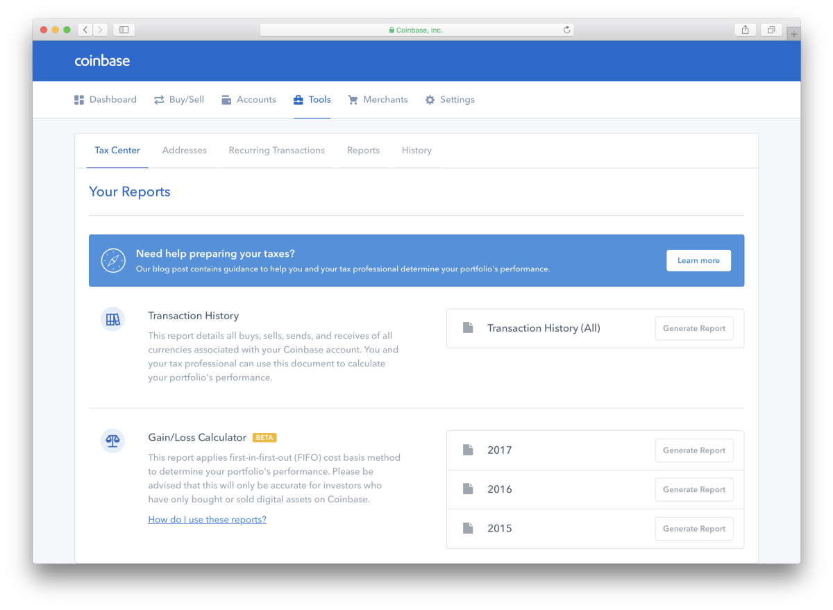 New tax tools on Coinbase – The Coinbase Blog