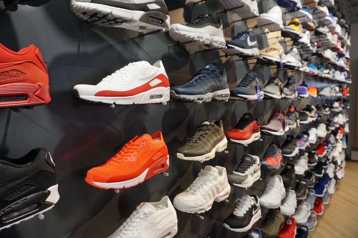 12dbb7ed5823 The store is filled with 360 pairs of sneakers and other apparel items of NIKE  Sportswear