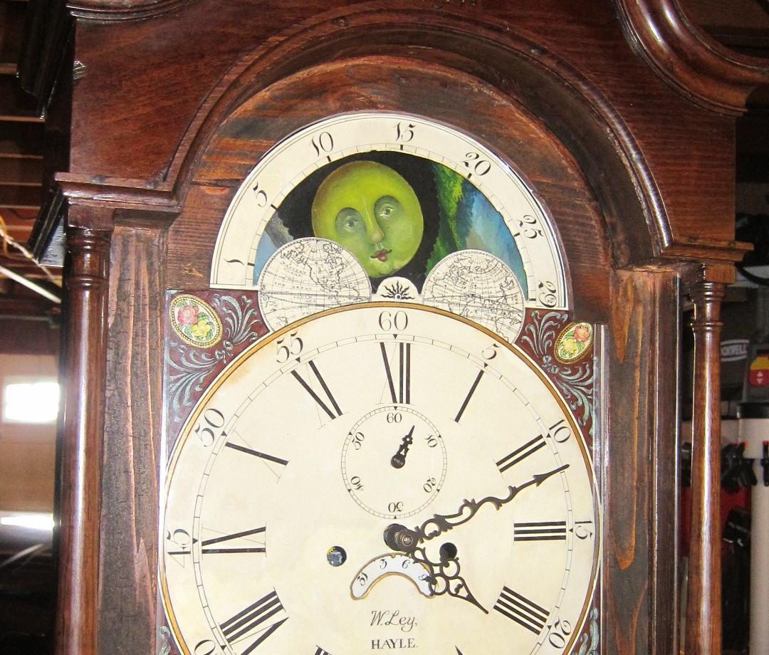 Antique Grandfather Clock Controlled With Electronics