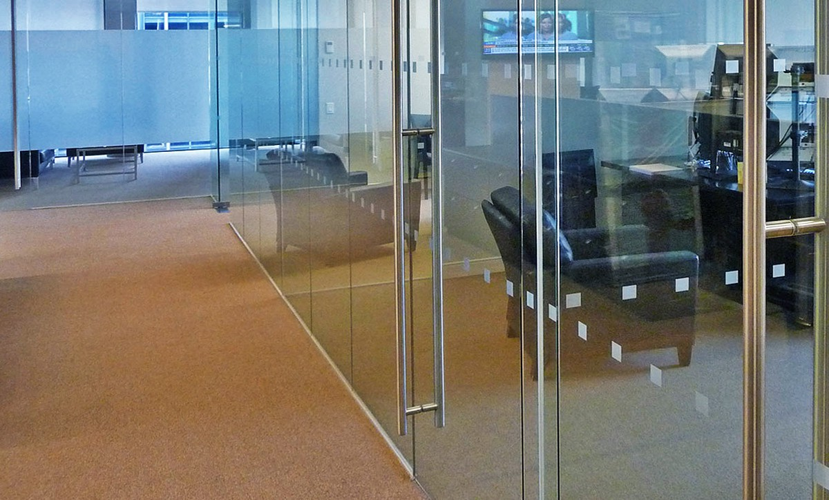 What Is The Code Requirement For Eye Level Safety Decals To Be Affixed To  Full Height Glass Walls?