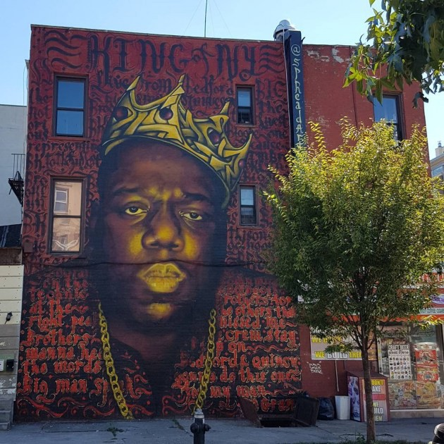 When murals are more than memories christopher a smith for Biggie smalls mural brooklyn