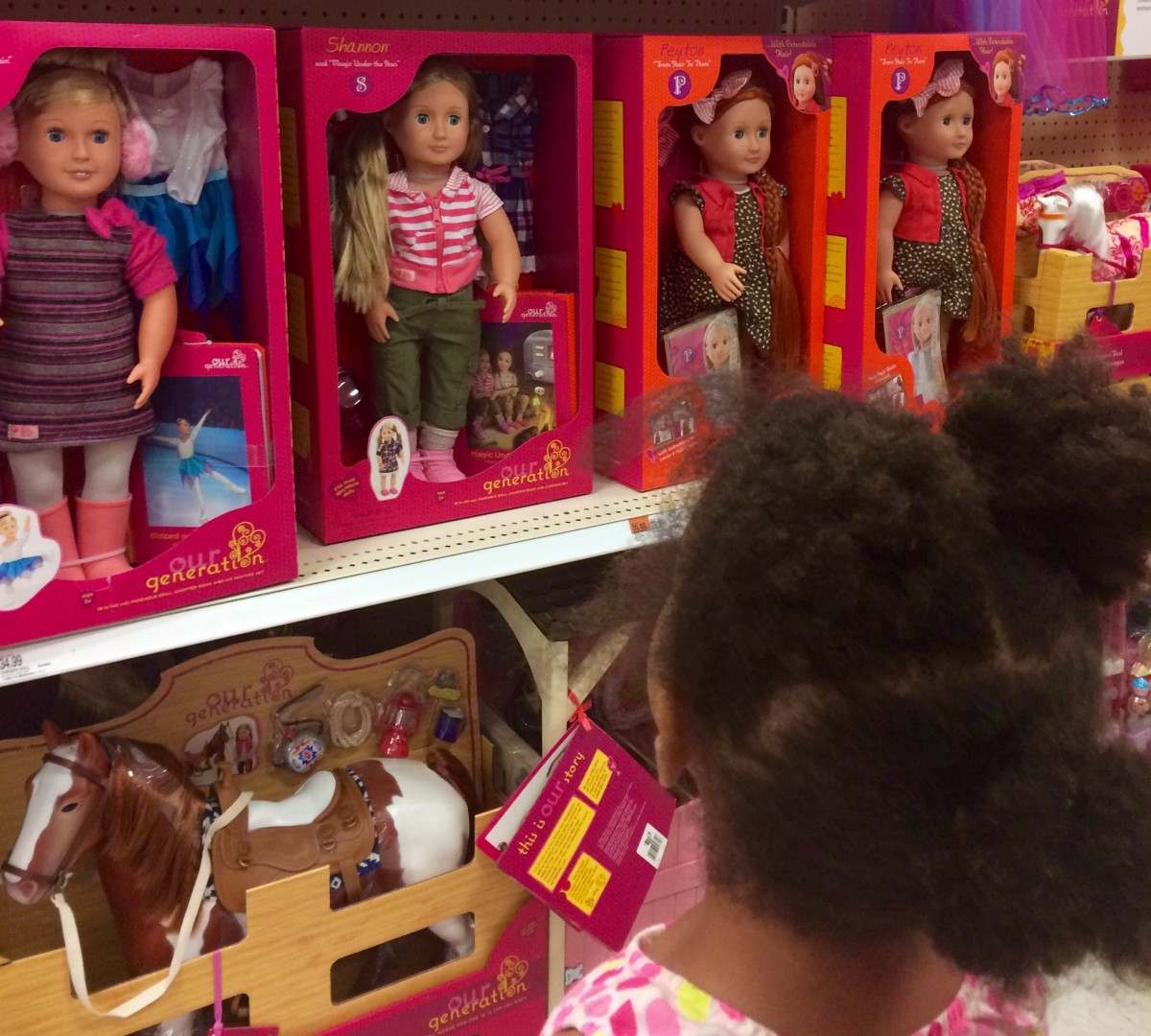 Why Are All The White Dolls Sitting Together On The Target