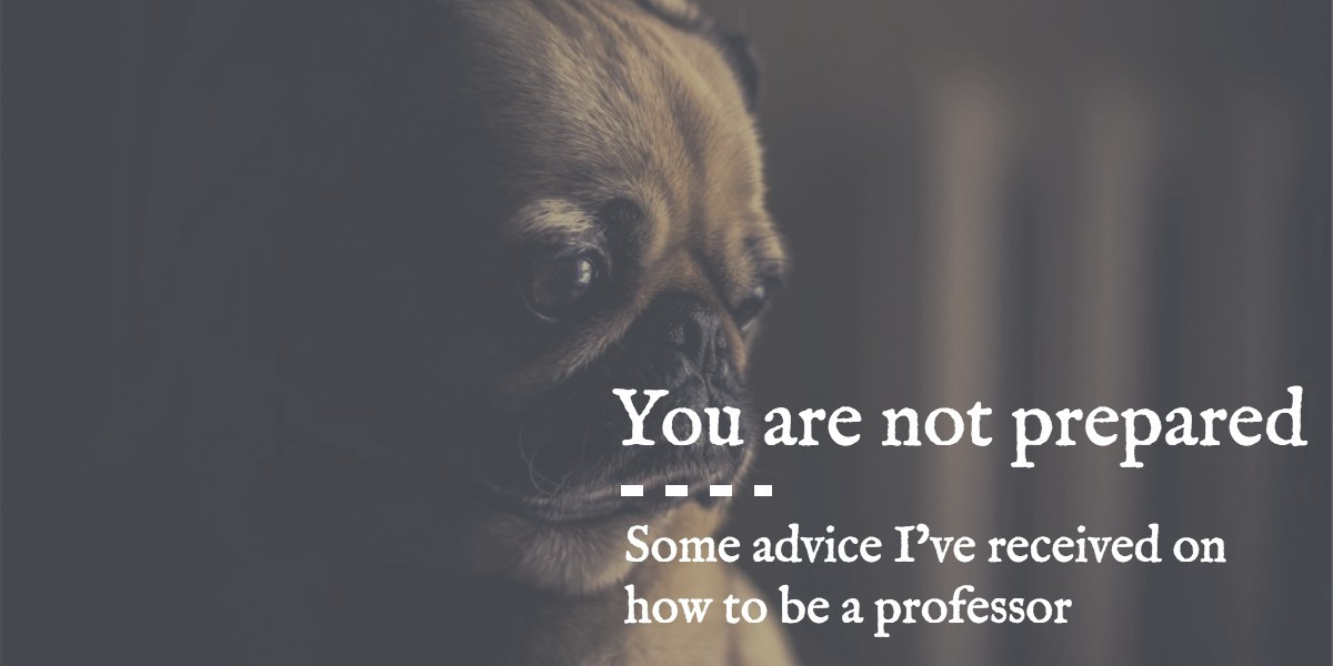 9c869db742 You Are Not Prepared: Some Advice I've Received on How to Be a Professor