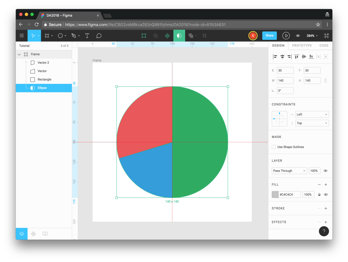Create a pie chart/donut chart in Figma - Prototyping