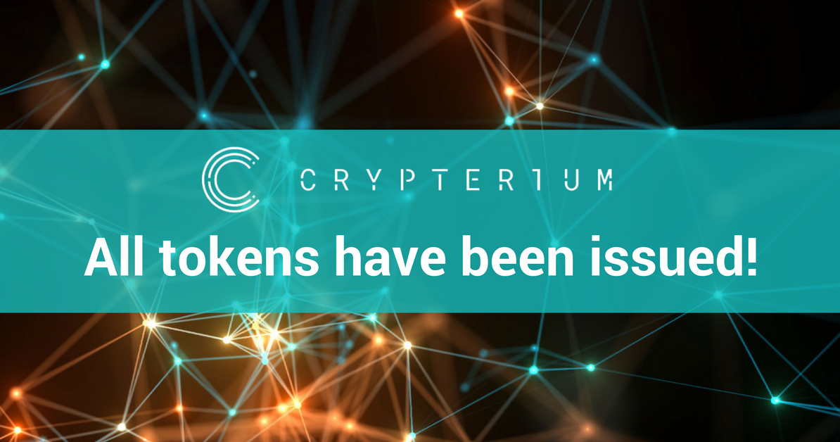 <bold>Crypterium</bold> News: All tokens have been issued! – <bold>Crypterium</bold> – Medium