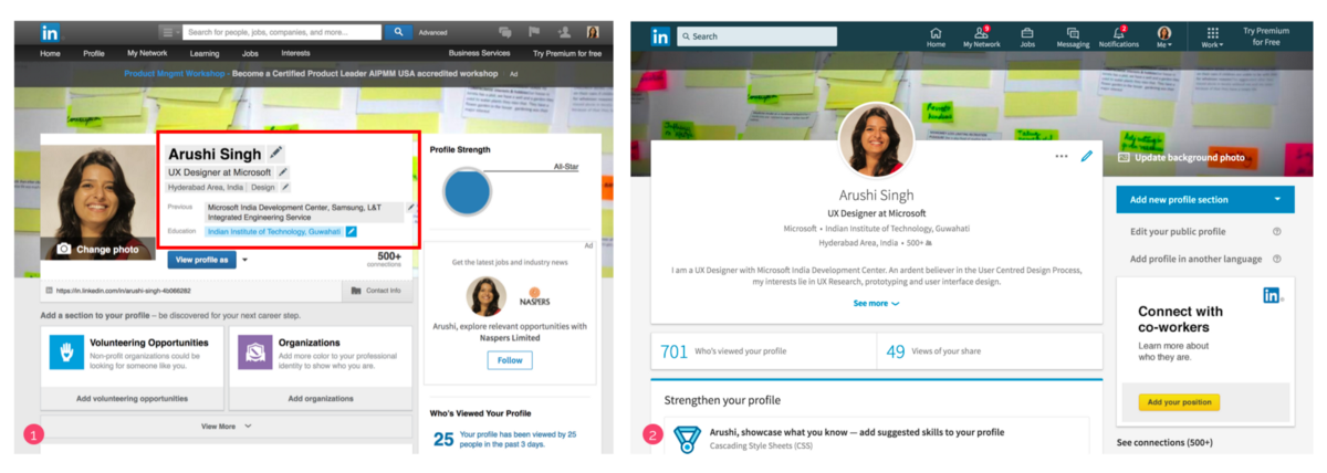 How does Linkedin's redesign address many design faux pas?